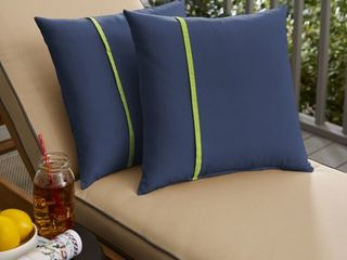Indoor  Outdoor Square Pillow  Set of 2