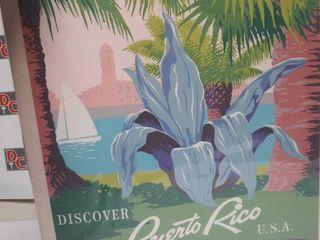 Puerto Rico Travel Poster Canvas Print Retail 187 99