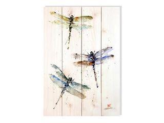 Three Dragonflies Indoor Outdoor Wall Art