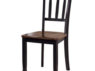 2pc Dining Room Side Chair Brown