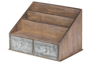 Wood Metal File Folder Organizer