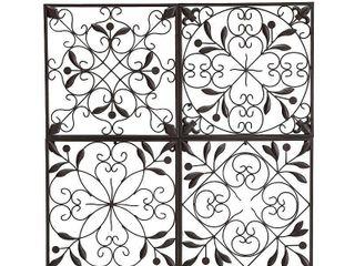 Four Panel Metal Wall Art