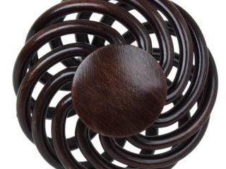 GlideRite 1 5 inch Rustic Bronze Round Birdcage Cabinet Knobs  Approx 50