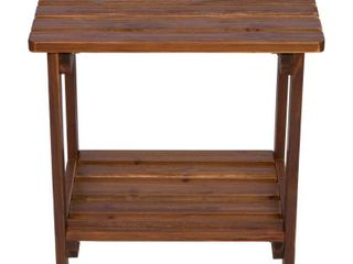 24 inch Rectangular Side Table Blue