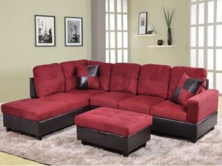 Red Sectional with Ottoman First Picture is an Example  Retail 955 49