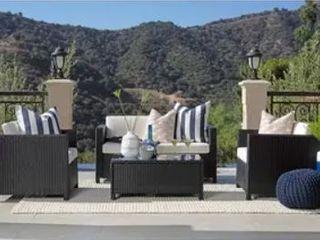 4 piece Squared Wicker Outdoor Sofa Set Retail 799 99