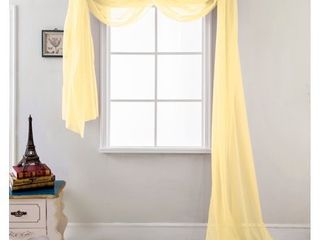 lot of 2  216 inch Sheer Curtain Scarf
