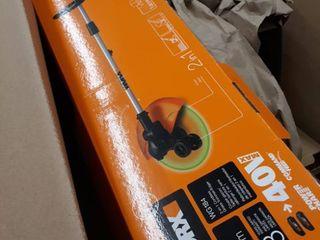 USED WORX 40V Power Share 13  Cordless String Trimmer   Wheeled Edger  2x20V