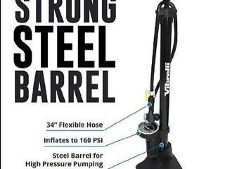Vibrelli Bike Floor Pump With Gauge High Pressure 160 Psi