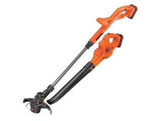 USED 20V Max  lithium 10 String Trimmer Sweeper Combo with 2 Batteries lCC222   Orange   Black decker