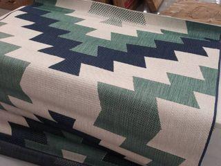 oeko tex 5  x 7 2  blue  green  and ivory