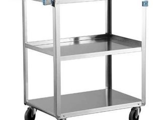 Stainless steel 3tray cart with wheels