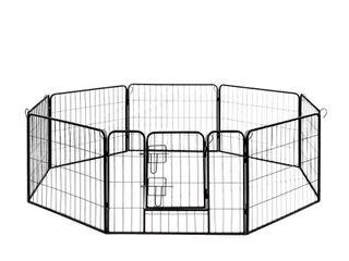 AlEKO DK24X32 Heavy Duty Pet Playpen Dog Kennel Exercise Cage Fence  8 Panel  32  x 24
