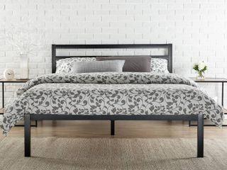 Zinus Modern Studio Platform 1500H Metal Bed Frame Mattress Foundation with Headboard  Queen