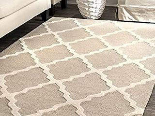 Papilio Isaiah Cotton Geometric Flatweave Handwoven Area Rug  7 6  x 9 6  Retail 294 99 USED  DAMAGED  AND STAINED