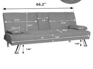 Hooseng light gray foldable sofa bed