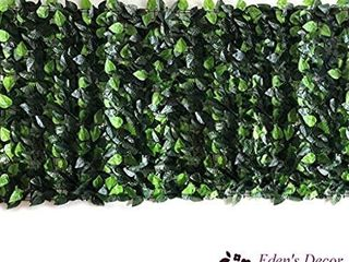 Eden s Decor 120 X40  Faux Ivy leaf Privacy Trellis Fence Screen  Natural looking Artificial Hedge for Indoor Outdoor Decoration Forest Color Mint Green leaves