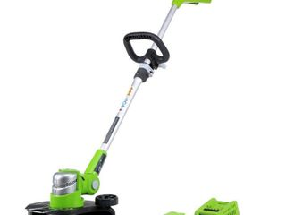 USED GreenWorks 21342 G 24 12 Inch Cordless String Trimmer   1  2Ah Battery and Charger Inc