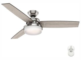 Hunter Fan 52 Sentinel with Handheld Remote led lighted Ceiling Fan Brushed Nickel