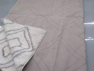Carole   Easy Shag Ozsgg1a style  White gray diamond pattern  10  6  x 14