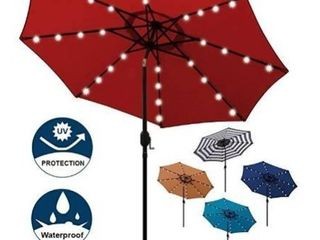 9  led lighted Market Umbrella