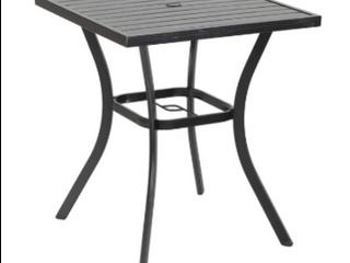 VC 32  black square metal patio high table