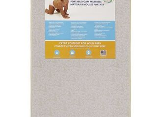 Dream On Me  3  Foam Pack and Play Mattress  White