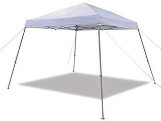 AmazonBasics Outdoor One push Pop Up Canopy  10ft x 10ft with Wheeled Carry  4 pk weight bag  White