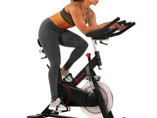 Sunny Health   Fitness 44 lb Flywheel  Magnetic Belt Drive Indoor Cycle Bike with Device Holder   SF B1805