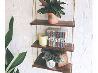 3 Tier Rope Hanging Shelves