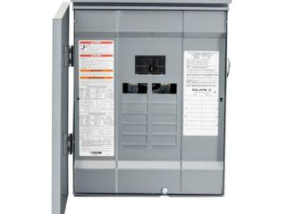 Square D by Schneider Electric HOM816M100PRB Homeline 100 Amp 8 Space 16 Circuit Outdoor Main Breaker load Center  Plug on Neutral Ready