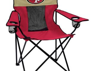 logo Brands NFl San Francisco 49ers Folding Elite Chair with Mesh Back and Carry Bag   Cardinal  One Size