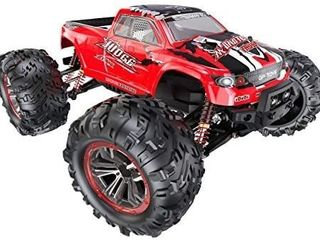 RC Cars 1 10 Scale large Remote Control Car Monster Truck Toy for Kids Boys Adults  RTR 46 Km h High Speed Waterproof Hobby Trucks 2 4GHz 4x4 Off Road  2 Batteries  S920  actual product is blue wheel is not attached