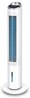 Evaporative Air Cooler   40  Portable Oscillating Fan Tower Fan with Evaporative Cooler   Humidifier  3 Speed Setting 3 Wind Type Remote Control 70AOscillating 8 Hour Timer lCD Control Super Quiet