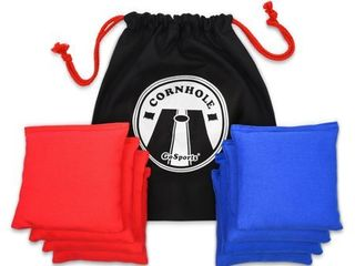 GoSports Premium All Weather Duck Cloth Cornhole Bean Bag Set and Tote Bag