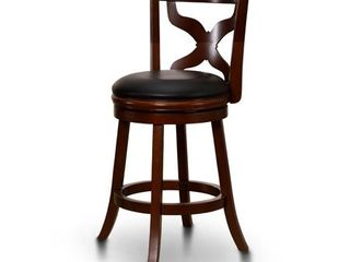 Furniture of America Weto Transitional Cherry Faux leather Bar Chair  Retail 127 99