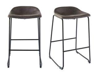 Picket House Furnishings Galloway Metal Bar Stool  Set of 2  Retail 146 99