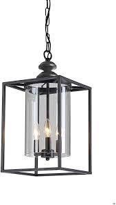 la Pedriza Antique Black 3 light Glass and Metal Chandelier  Retail 131 99