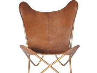 Carbon loft larkin Chestnut leather Butterfly Chair  Retail 251 99