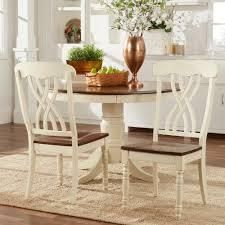 Traditional Country Style Two tone Dining Chairs  Set of 2  Retail 102 99 white short
