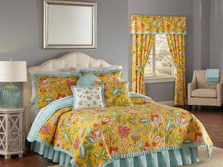 Waverly Modern Poetic Sunshine Cotton Quilt Set  Twin