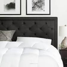 BROOKSIDE Upholstered Headboard only with Diamond Tufting  Retail 182 49 queen charcoal