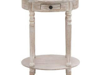 Farmhouse 27 Inch Oval Wooden Accent Table with Drawer by Studio 350  Retail 131 49