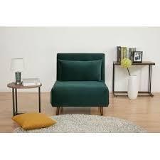 Tustin Upholstered Convertible lounge  Sleeper Chair  Retail 247 99 velvet green