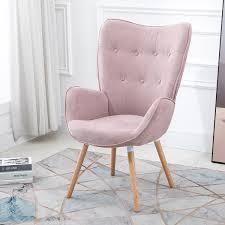 Carson Carrington Falltorp Velvet Tufted Accent Chair  Retail 261 99 rose