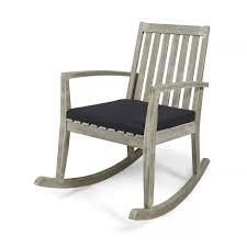 montrose traditional outdoor acacia wood rocking chair grey