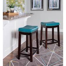 turquoise blue stool
