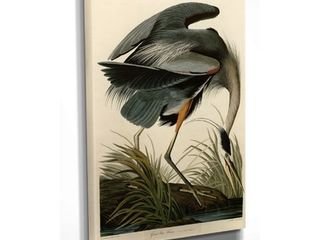 Wexford Home Great Blue Heron Canvas Wall Art- Retail:$102.99
