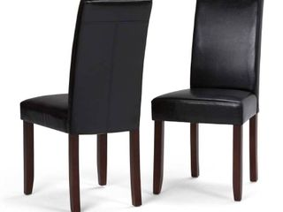 WYNDENHAll Normandy Contemporary Parson Dining Chair  Set of 2    17 5 w x 20 1 d x 40 4 h  Retail 174 49