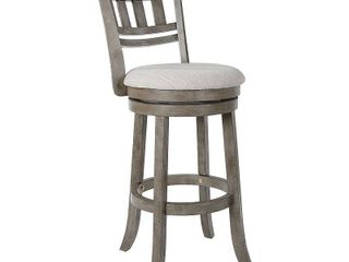 Swivel Stool 30  with Slatted Back in Antique Grey Finish set of 2